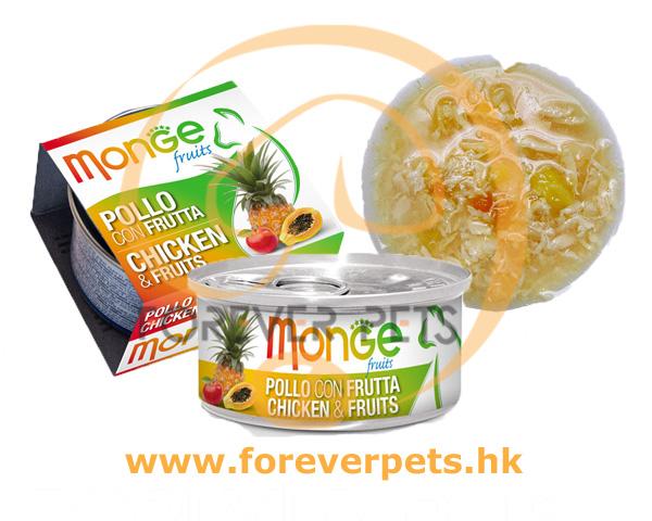 Monge 清新水果系列 - 雞肉+雜果 80g