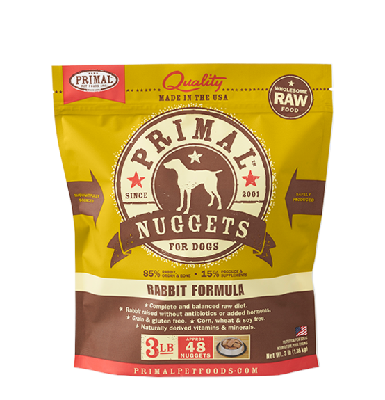 Primal (原始)-Canine Frozen Formula (Rabbit)犬用急凍鮮肉- 兔配方 3lb