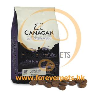 Canagan Light/Senior For Dogs 無穀物減肥/老犬糧 2Kg (紫色)