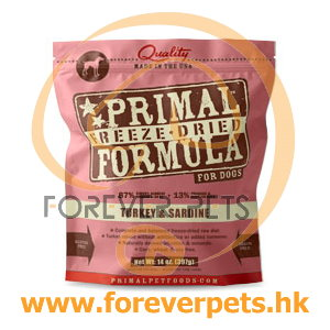 Primal (原始)-Canine Freeze-Dried Formula (Turkey&Sardine)犬用低溫脫水糧- 火雞加沙甸魚配方 14oz