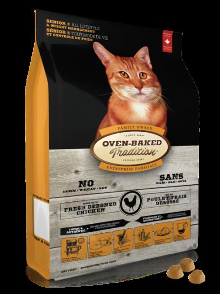 Oven-Baked Cat 體重控制配方 - 老貓糧 5lb  (橙)