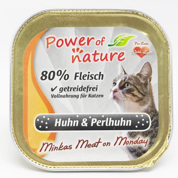 Power of Nature 星期一慕絲 Minkas Meat on Monday (Huhn & Perlhuhn) 鴛鴦雞肉 100g (限定增量裝) (灰色)