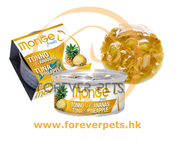 Monge 清新水果系列 - 吞拿魚+菠蘿 80g