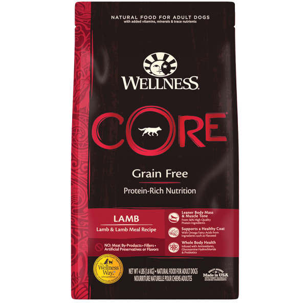 Wellness Core 無穀物(犬用)配方 - 羊肉 4lb