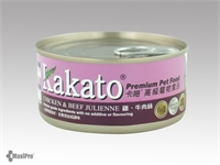 Kakato 卡格  Chicken & Beef Julienne 雞、牛肉絲 (貓狗合用) 170g