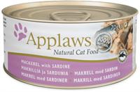 Applaws 全天然 貓罐頭 - 鯖魚沙甸魚 70g (細)