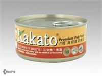 Kakato 卡格 Salmon in Broth 三文魚 魚湯 罐頭 (貓狗合用) 70g