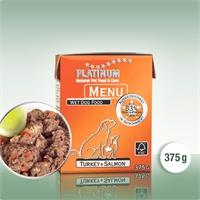 Platinum Menu 鮮火雞+三文魚濕糧 375g