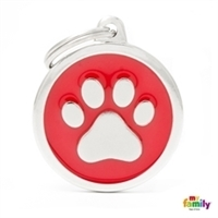 My Family - Classic Red Big Circle Paw (CH17REDPAW)
