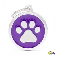 My Family - Classic Purple Big Circle Paw (CH17PURPLEPAW)