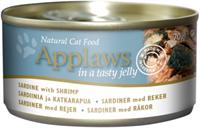 Applaws 全天然 啫喱 罐頭 - 沙丁魚 + 蝦 70g (細)