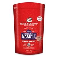 Stella & Chewy's - Frozen Dinner Patties Absolutely Rabbit 極度兔惑 (兔肉配方) 3lb