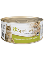 Applaws 全天然 貓罐頭 - 雞胸 + 鯖魚 70g (細)