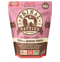 Primal (原始)-Canine Frozen Formula (Turkey&Sardine)犬用急凍鮮肉- 火雞加沙甸魚配方 6lb (4包優惠裝)