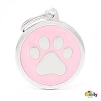 My Family - Classic Pink Big Circle Paw (CH17PINKPAW)