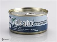 Kakato 卡格 Chicken, Tuna & Vegetables 雞、吞拿魚、蔬菜 罐頭 (貓狗合用) 170g