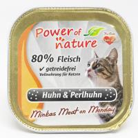 Power of Nature 星期一慕絲 Minkas Meat on Monday (Huhn & Perlhuhn) 鴛鴦雞肉 100g (限定增量裝) (灰色)